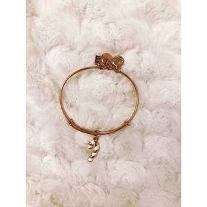 🆕 Alex and Ani Rose Gold Candy Cane Bracelet